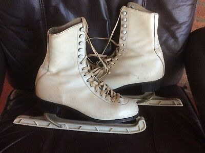 Vintage ice skates women ladies size 7 Fagan Deluxe Made in England