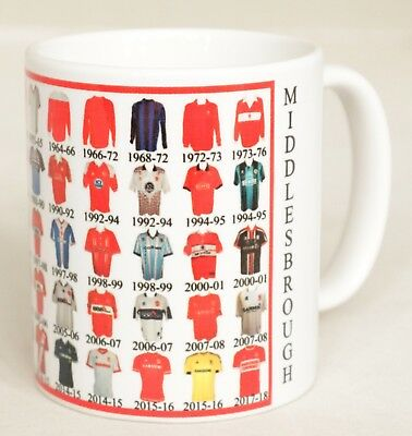 Middlesbrough  Mug Football shirt history New Gift