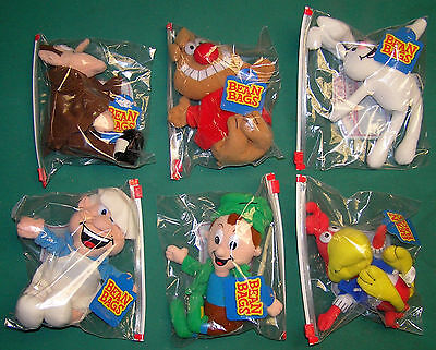 Mint Lot of 6 General Mills Plush Beanbag Breakfast Baby Cereal Pals 2000
