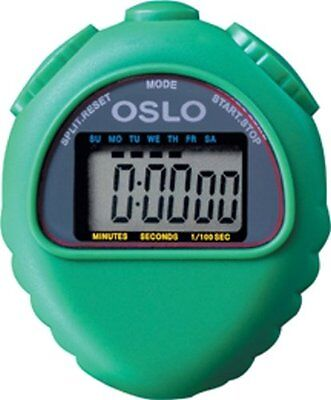 Green Oslo All Purpose Stopwatch With Time Calendar & Alarm Functions 1/100 sec