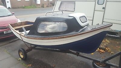 12ft fishing boat simulated clinker with trailer like orkney
