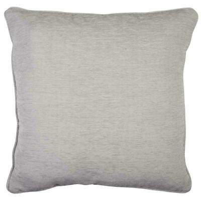 Silver Grey Oxford Luxury Chenille Velvet Piped Cushion Cover £5.99 Ea Free Post