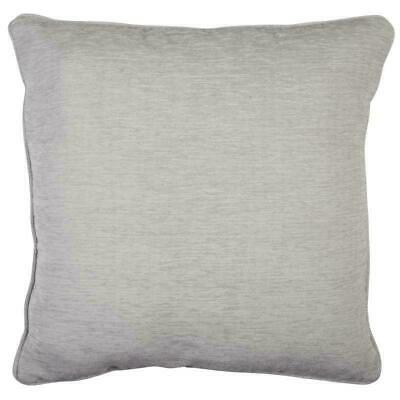 Silver Grey Oxford Luxury Flecked Chenille Velvet Piped Cushion Cover £5.99 Each