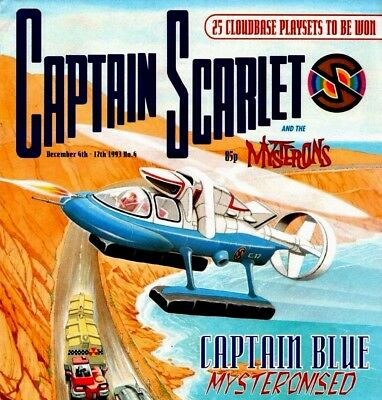 CAPTAIN SCARLET, TERRAHAWKS, BLAKES 7, & AVENGERS Original TV Show Comics on DVD
