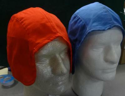 Two Flight Helmet Skull Caps - Blue And Red - Size: Large #misc913