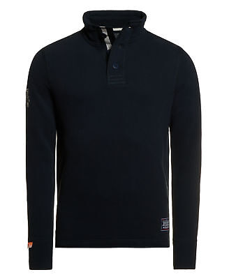 New Mens Superdry Challenger Henley Eclipse Navy