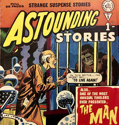 ASTOUNDING STORIES, AMAZING STORIES OF SUSPENSE & MORE - UK Sci Fi Comics on DVD