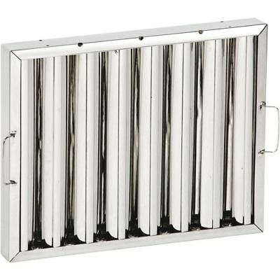 Stainless Steel Kitchen Extraction Canopy Grease Baffle Filter - 395 x 495mm