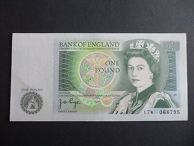 """BANK OF ENGLAND  £1 POUND NOTE - J.B.PAGE -  ( single note only )  """" SERIES D """""""