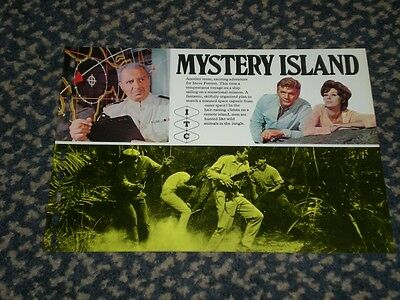 Mystery Island - very rare 1966 ITC sales flyer.  Steve Forrest. The Baron