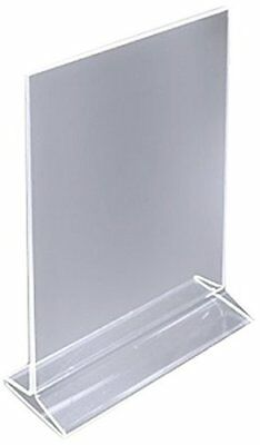 "Pack of 12 8½"" x 11"" Acrylic Sign Holder / Clear Table Card Display / Menu"