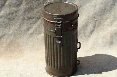 2WW German Army Gas Mask Container 1st model Cavalry,Navy good condition,sale