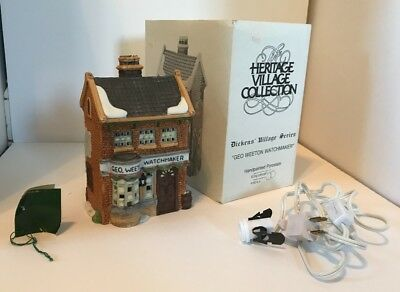 Dept 56 Dickens Heritage Village Collection The Geo Weeton Watchmaker House
