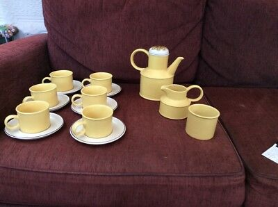 "Midwinter Vintage teaset, ""Stonehenge"" range, ""Flower Song"" pattern 1972"