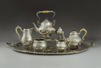 Extremely Rare Viennese silver tea set, Wurbell&Czokally, c. 1900