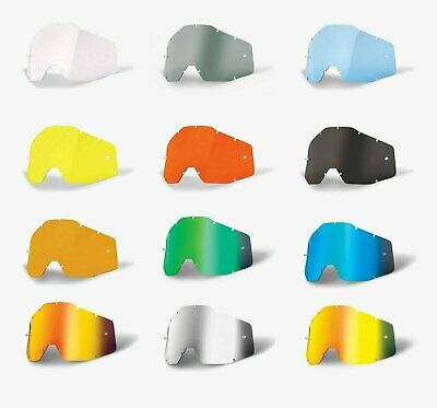100% Goggle Replacement Lens -ALL COLORS- Strata Racecraft Accuri -MX Motocross