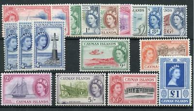 Cayman Islands 1953-62 set plus all listed shades SG148/61a+ MLH cat £157