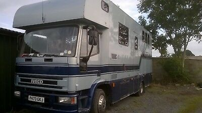 1996, Blue, 11 ton, Ford Iveco Horsebox, Plated until March 18,