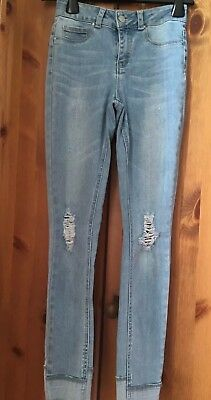NEW LOOK  Denim Girls Ripped Skinny Fit Jeans AGE 12
