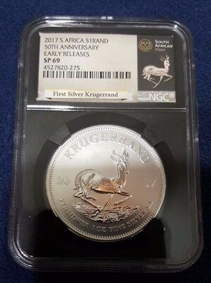 2017 South Africa 1 oz Silver Krugerrand NGC SP 69