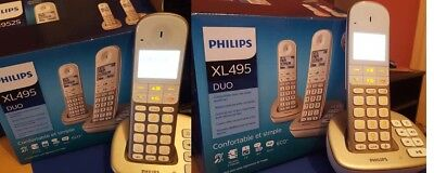 duo telephone sans fil philips XL495 complet