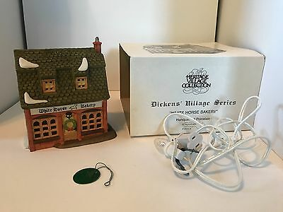 Dept 56 Dickens Heritage Village Collection The White Horse Bakery Christmas
