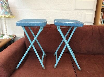 Amazing pair of Vintage folding kitchen stools, (1950s/60s)