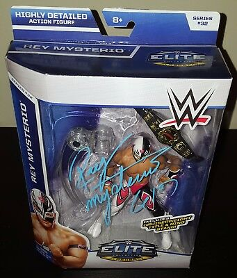 REY MYSTERIO Signed WWE Mattel Elite Collection Wrestling Figure WWF WCW ECW