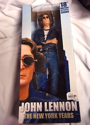 "Very RARE 18"" John Lennon Motion Activated Sound Action Figure. MINT condition"