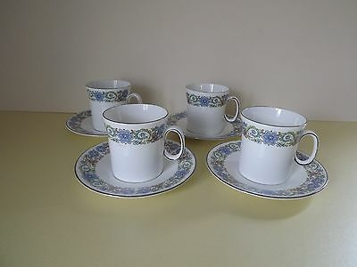4 Royal Stafford 'Fascination' Cups & Saucers (68,138)