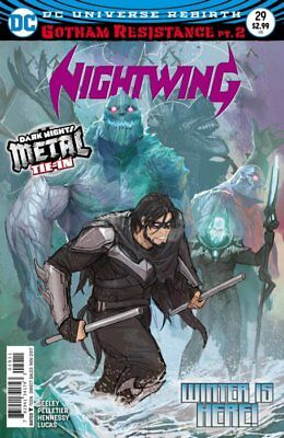 Nightwing #29 Metal Tie In Regular Cover Gotham Resistance Part 2