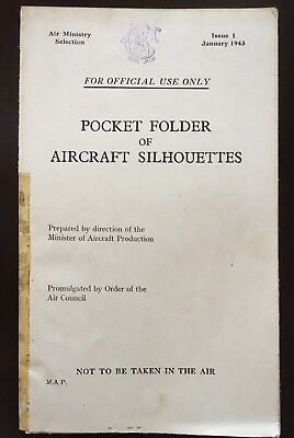 Fold-out chart - Pocket Folder of Aircraft Silhouettes - Air Ministry 1943