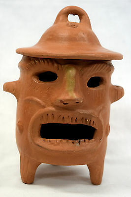 Handmade Terracotta clay Incense Burner from Guatemala  - UNIQUE!