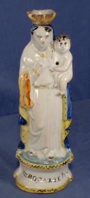 19th Century Faience Figure 'STES ROSALIE PPN' Madonna & Child