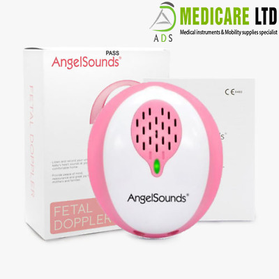 Angel Sounds Baby Fetal Doppler Heart Sound Detector Monitor Free App & 1 Gel