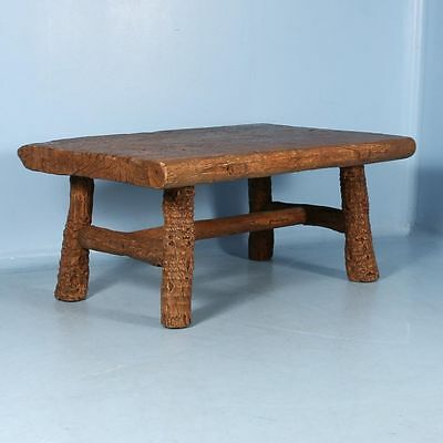 Antique 19th Century Rustic Pine Chinese Desk with Mountain Look