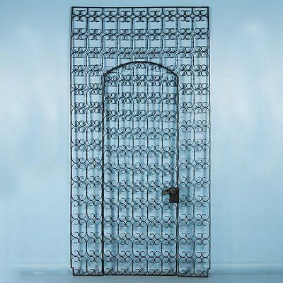 Antique 19th Century Wrought Iron Garden Gate, Right Door