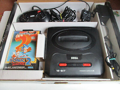 Sega Mega Drive Megadrive II 2 Console + Sonic the Hedgehog 2 Boxed FREE UK POST