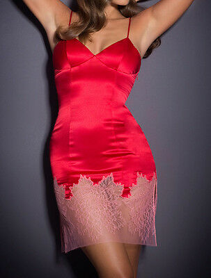 AGENT PROVOCATEUR Red Silk Shirley Slip BNWT