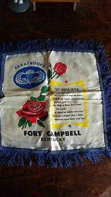 Vintage Ft. Campbell, Ky. Dear Wife Pillow Cover
