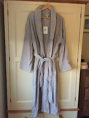 White Company Grey Dressing Gown/towelling Robe