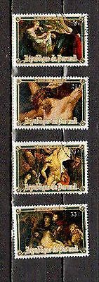 STAMPS  Burundi  Scott # 507-510  ART, RUBENS  1977