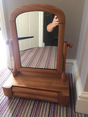 Antique Victorian Wooden Dressing Table / Toilet Mirror