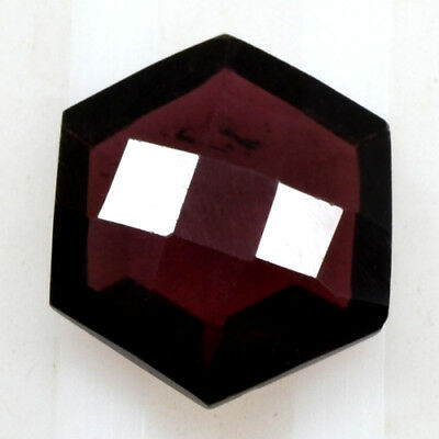 Natural Pyrope Pink Red Garnet Checkered Fancy Cut Mozambique 3.80 Cts 10 mm Gem