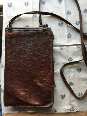 WW2 vintage leather map bag