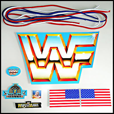 ♛ Hasbro Mega Set #full Replacement Sticker Sheet + New Ring Ropes Wwf Decal ♛