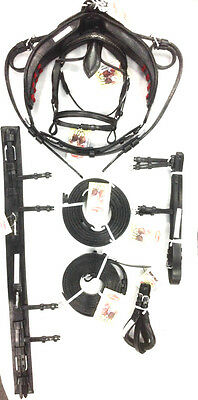 New Export Quality Real Leather English Horse Driving Harness Set COB Size