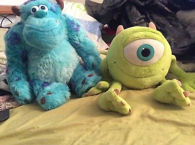 Monsters inc Sully and Mike soft toys