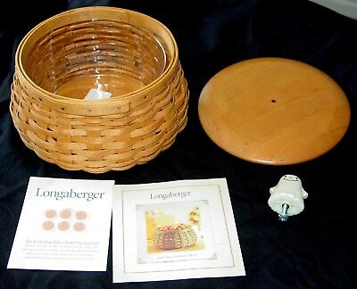Sweet 2004 Longaberger Happy Halloween Basket With Protector,lid, & Ghost Handle