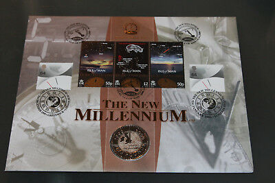 Joint Gb/iom 1999/2000 Benham The New Millenium Fdc With £5 Coin Encapsulated